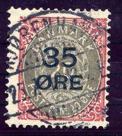 DENMARK 1912 Surcharge 35 Øre On 20 Øre, Used.  Michel 61 I - 1905-12 (Frederik VIII)