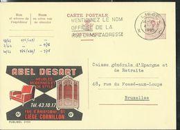 Publibel Obl. N° 2154 ( Abel Desart  Meubles  - Liège) Obl.  Liège 1966 - Publibels