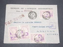 SÉNÉGAL - Enveloppe Commerciale De Dakar Pour Accra En 1944 , Affranchissement Mauritanien - L 13884 - Sénégal (1887-1944)