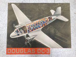 Affiche Avion Douglas DC-3 De KLM Air Lines - Affiches