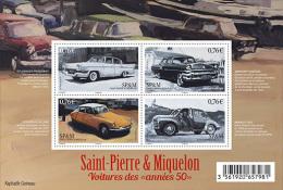 Saint-Pierre-et-Miquelon 2015 - Vintage Cars 50's Years Souvenir Sheet Mnh - Ohne Zuordnung