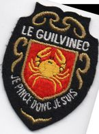 "écusson Tissu "" LE GUILVINNEC"" Bon état (ec.11) - Ecussons Tissu"