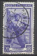 Timbro Tondo - CONEGLIANO 7-12-51  20 Lire Italia Al Lavoro - 6. 1946-.. Repubblica