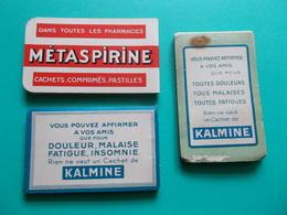 CARNET METASPIRINE + 2 KALMINE PARAPHARMACIE MEDICAMENT Publicité Carnets Publicitaires De Laboratoires Pharmaceutiques - Produits Pharmaceutiques