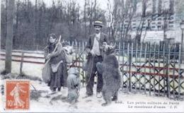 75 - Petits Métiers  : Le Montreur D'Ours . - Petits Métiers à Paris