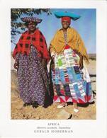 POSTCARD NAMIBIA AFRICA - HERERO WOMEN - LEOPARD STAMP - Namibia