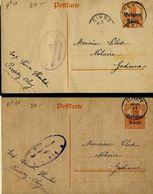 Carte N° 10  (2x)  Obl. OHEY  05/06/17 Et 11/09/18  + Censure - Deutsche Besatzung