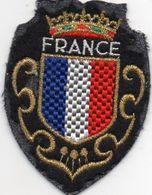 """écusson Tissu """" FRANCE"""" Couronne Et Dorures  (ec.15) - Ecussons Tissu"""