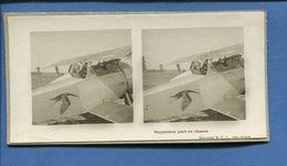 Carte Photo Stereo Guerre 14-18 Aviation Avion Aviateur Guynemer Part En Chasse Editions S.T.L Issy Paris - War 1914-18