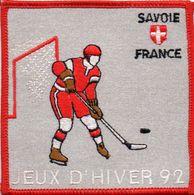 """écusson Tissu """"JEUX D'HIVER 92"""" Armoiries Savoie  (ec.15) - Ecussons Tissu"""