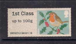 GB 2012 QE2 1st Post & Go Up To 100 Gms Christmas Robin No Gum ( A564 ) - Great Britain