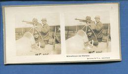 Carte Photo Stereo Guerre 14-18 Aviation Avion Aviateur Mitrailleuse Farman Editions S.T.L Issy Paris - War 1914-18