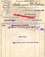 42- SAINT ETIENNE- FACTURE ETS. M. DUBAN-MANUFACTURE ROUES LIBRES WEDOW-THE LOVE-J MOYNE- AUTOMOBILE VOITURE AUTO-1929 - Cars