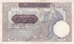 SERBIE BILLET DE 100 DINARA 1941 OCCUPATION ALLEMANDE ALPHABET / E.2493 - Serbia