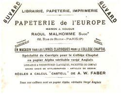 Pa L'E/Buvard Papeterie De L'Europe (N= 1) - Stationeries (flat Articles)