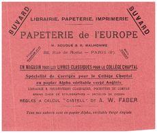 Pa L'E/Buvard Papeterie De L'Europe (N= 2) - Stationeries (flat Articles)