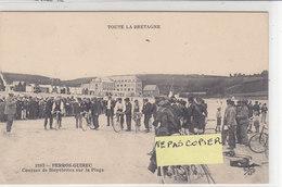 PERROS - GUIREC ( Trestaou ) : Courses De Bicyclettes Sur La Plage - Le Départ - Peu Courant - Perros-Guirec