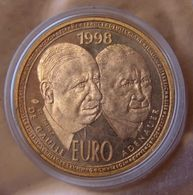 France Essai De 10 Euro De Gaulle / Adenauer 1998 - France