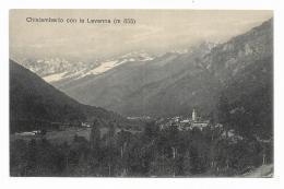 CHIALAMBERTO CON LA LEVANNA - 1914 - VIAGGIATA FP - Non Classificati