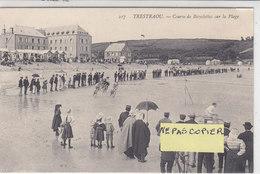 PERROS - GUIREC ( Trestaou ) : Courses De Bicyclettes Sur La Plage - La Tête De Course  - Peu Courant - Perros-Guirec