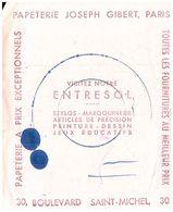 Pa J G/ Buvard Librairie Joseph Gilbert (1/2 Format 16 X 21) (N= 4) - Stationeries (flat Articles)