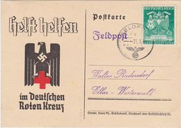 GERMANY 1944 (21.1.) RED CROSS ADVERT PC USED FIELDPOST - Allemagne