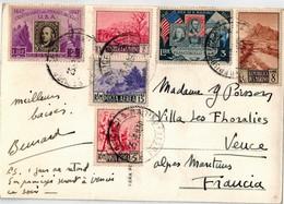 Cp Pour La France 1950 - Saint-Marin