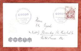 Brief Mit Inhalt, EF Schmiede, SoSt Forum Leverkusen, Nach Wesenberg 1969 (47401) - Berlin (West)