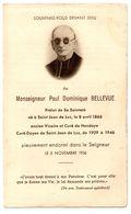 Souvenir De Décès Saint Jean De Luz Monseigneur Bellevue - Décès