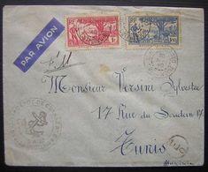 COTE-D'IVOIRE: N°124A+126 Sur LSC De BOBO-DIOULASSO Du 30/5/1940 (+ Cachet Du Dépôt De Marine) Pour Tunis - Côte-d'Ivoire (1892-1944)
