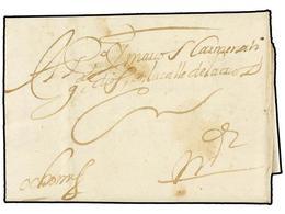 1 ESPAÑA: PREFILATELIA. 1657. TOLEDO A MADRID. Carta Completa Con Indicación De Porte Manuscrito <I>'Ocho Mrs' </I> (mar - Stamps