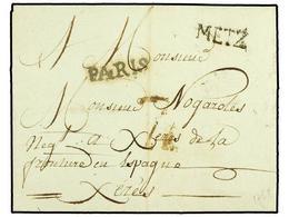 3 ESPAÑA: PREFILATELIA. 1788. METZ (Francia) A JEREZ. Marca <B>METZ </B>y Lineal <B>PARIS </B>estampado En Cádiz (nº 72) - Stamps