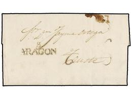 10 ESPAÑA: PREFILATELIA. 1843. SOS A TAUSTE. Marca <B>S/ARAGÓN</B> (nº 2). LUJO. - Stamps