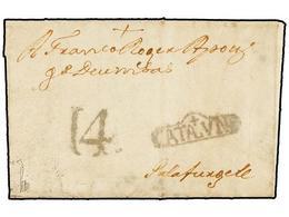 18 ESPAÑA: PREFILATELIA. 1778. GERONA A PALAFRUGELL. Marca <B>+/CATALUÑA</B> (nº 6). - Stamps