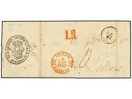 31 ESPAÑA: PREFILATELIA. 1847. VIVERO A LONDRES. Circulada Por Tierra Vía Francia, Marca <B>SECCIÓN INTERVENTORA/BENAVEN - Stamps