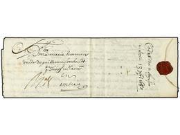 35 ESPAÑA: PREFILATELIA. 1680 (11 Julio). CADIZ A AMBERES (Bélgica). Carta Completa Con Texto Tasa '8'. Rara Circulada D - Unclassified