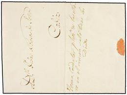 37 ESPAÑA: PREFILATELIA. 1864. JEREZ A CÁDIZ. COSARIO MANUSCRITO <I>'Teran. Conductor Pl. De Las Nieves En El Rincón De  - Unclassified