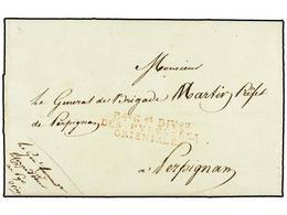 40 ESPAÑA: PREFILATELIA. 1808 (2 Junio). <B>EJÉRCITOS FRANCESES. </B>BARCELONA A FRANCIA. Carta Del General G. P. Duhesm - Stamps