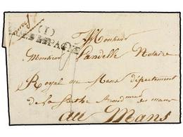 42 ESPAÑA: PREFILATELIA. 1821. <B>EJÉRCITOS FRANCESES</B>. VITORIA A FRANCIA. Marca<B> (I) ARM. D'ESPAGNE.</B> - Stamps
