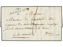 51 ESPAÑA: PREFILATELIA. 1828 (11 Julio). <B>EJÉRCITOS FRANCESES. </B>CÁDIZ A FRANCIA. Marca <B>(R)/ARM. D'ESPAGNE</B>.  - Stamps