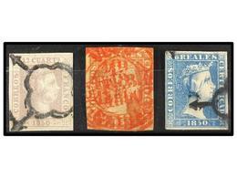 88 ° ESPAÑA. Ed.2, 3, 4. Bonitos Ejemplares, Algún Leve Defecto. Cat. 1.950€. - Stamps