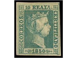 93 (*) ESPAÑA. Ed.5. <B>5 Reales</B> Verde. Magnífico Ejemplar, Tres Márgenes Enormes Y El Cuarto Completo. Cert. COMEX  - Stamps