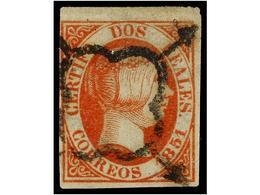 109 * ESPAÑA. Ed.8. <B>2 Reales</B> Naranja.<B> FALSO SPERATI,</B> Marquilla<B> B.P.A.</B> Al Dorso. - Unclassified