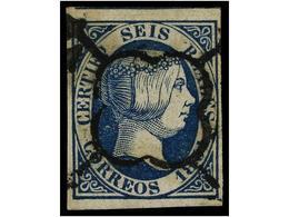 112 ° ESPAÑA. Ed.10. <B>6 Reales</B> Azul. Color Excepcional. PIEZA DE LUJO. Cert. GRAUS. Cat. 1.475€. - Stamps