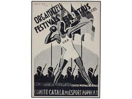 895 ESPAÑA GUERRA CIVIL. TARJETA POSTAL. <B>'Organitzeu Festivals Esportius A Profit De Les Milicies'. </B> - Unclassified
