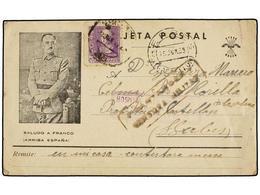 902 ESPAÑA GUERRA CIVIL. 1939. SANTANDER A CASTELLÓN. Tarjeta Postal Marca <B>HOSPITAL PARA PRISIONEROS / SARDINERO / CE - Stamps