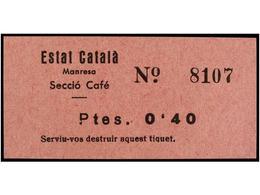929 ESPAÑA GUERRA CIVIL. <B>MANRESA. Estat Català. 20 Cts.</B> Ocre Y <B>40 Cts.</B> Rosa. No Reseñados. - Stamps