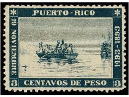 1220 (*) COLONIAS ESPAÑOLAS: PUERTO RICO. Ed.101. <B>3 Ctvos.</B> Verde. Magnífico Ejemplar Sin Goma Como Es Habitual. C - Stamps