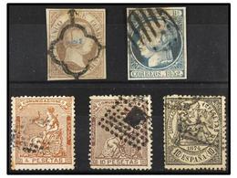 1293 LOTES Y COLECCIONES. <B>FALSOS SPERATI</B>. Conjunto Formado Por Los Sellos Nº 7, 16, 139, 140 Y 152. Al Dorso Marq - Stamps