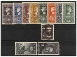 1307 LOTES Y COLECCIONES. <B>ESPAÑA. </B>Conjunto Con Las Series De Centenario, Caudillo A Canarias Aéreo (con Número) Y - Stamps